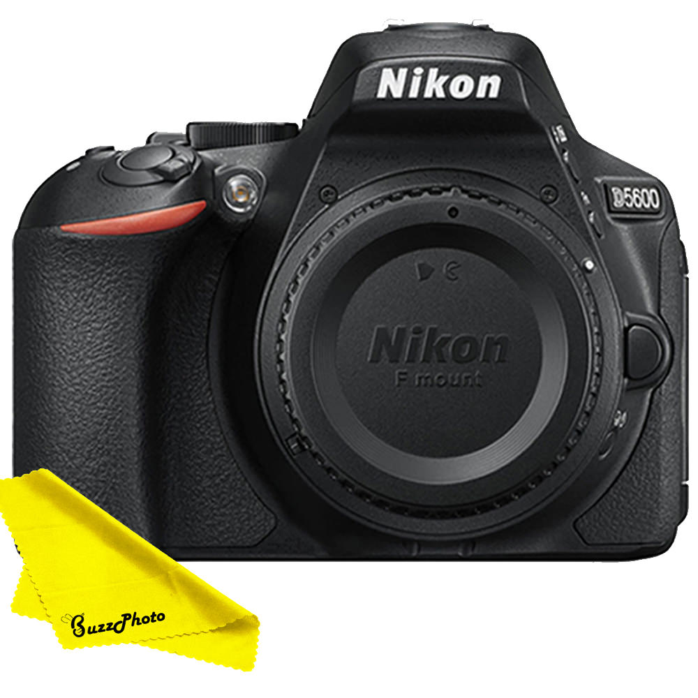 Nikon D5600 DSLR Camera (Body Only) with FREE Buzz-Photo Cleaning Cloth