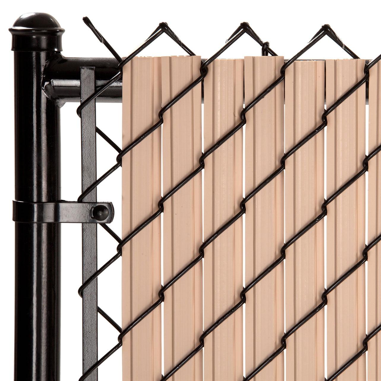 Picture of: Maximum Privacy Beige Solitube Slats For 8ft Chain Link Fence Walmart Com Walmart Com