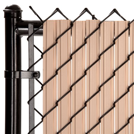 Maximum Privacy Beige SoliTube Slats™ for 6ft Chain Link Fence