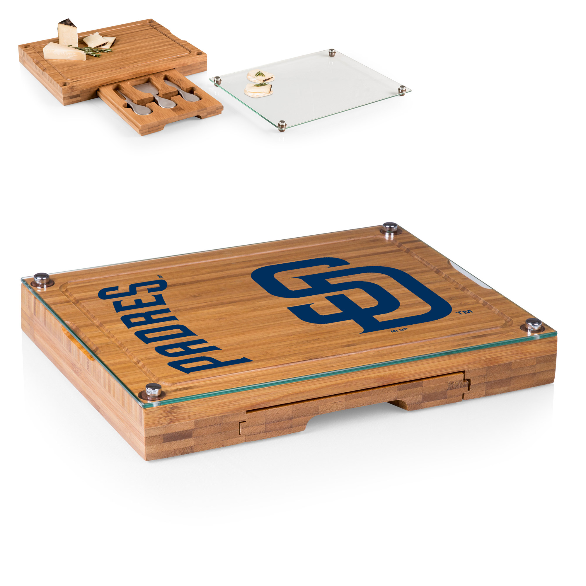 San Diego Padres Concerto Cheese Board with Serving Stage and Tools - No Size