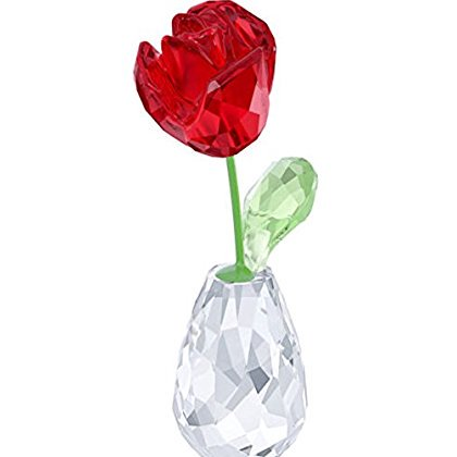 Swarovski Crystal FLOWER DREAMS RED ROSE FIGURINE