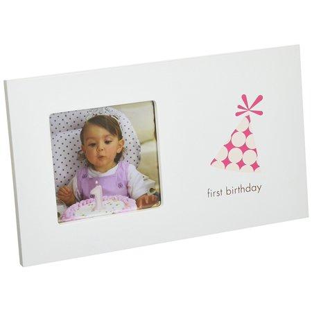 Pearhead First Birthday Frame, Girl - Walmart.com
