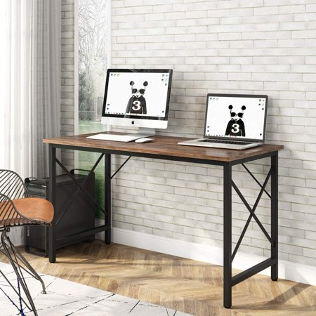 """Tribesigns 39"""" Writing Computer Desk, Modern Simple Wood Study Desk Laptop Table, Industrial Notebook Desk Workstation for Home Office"""