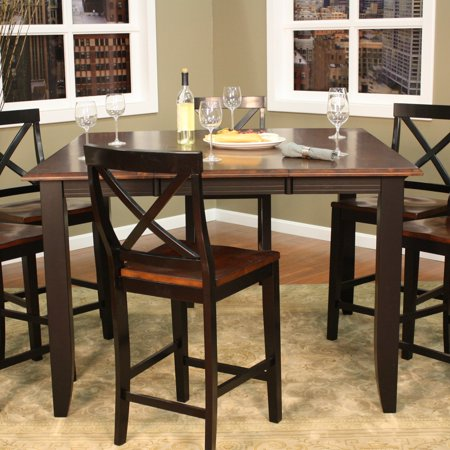 Ahb Rosetta Two Tone Butterfly Counter Height Dining Table