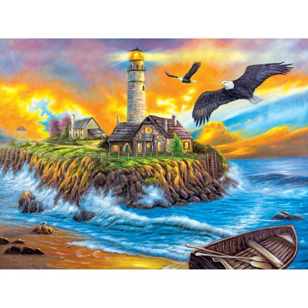 LaFayette Puzzle Factory™ Sunset Cove Lighthouse Jigsaw (Cove Jigsaw Puzzle)
