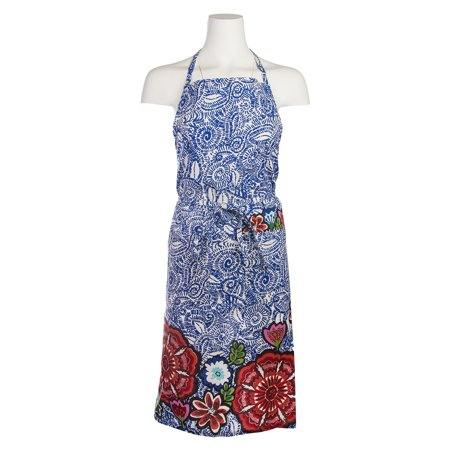 Tag Talavera Cotton Kitchen Bib Apron Pockets Cute Vintage Ladies Women Chef