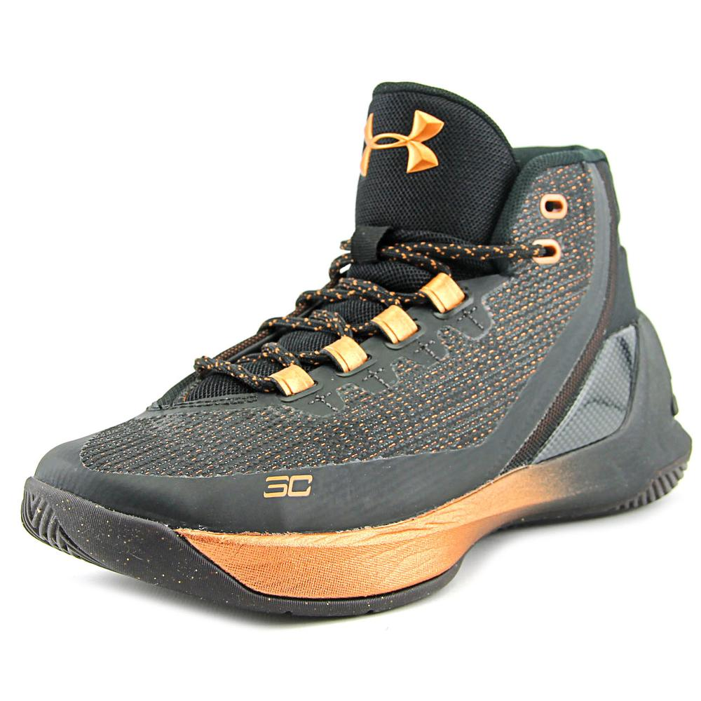 Under Armour Curry 3 Youth  Round Toe Synthetic Black Bas...