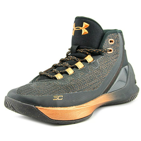 (Under Armour Curry 3 Youth  Round Toe Synthetic Black Basketball Shoe)