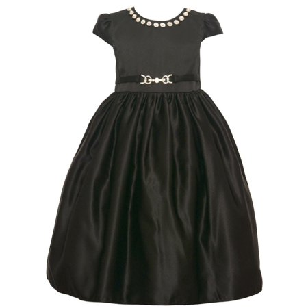 Girls black holiday dress — img 1