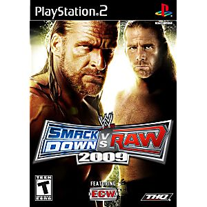 WWE Smackdown Vs. Raw 2009- PS2 Playstation 2 (Best Of Raw And Smackdown 2019)
