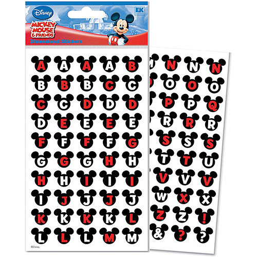 Disney Mickey and Friends Alphabet Dimensional Stickers, Ears