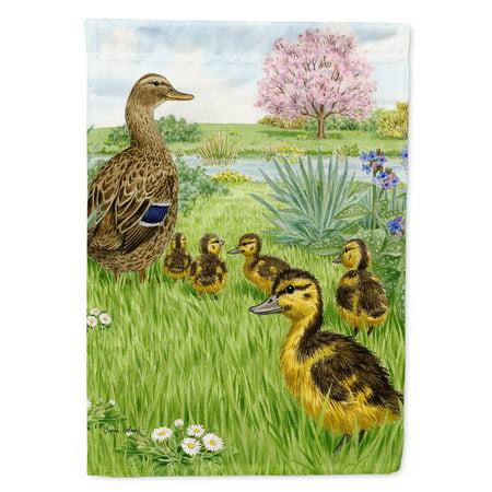 Female Mallard Duck & Ducklings Garden Flag