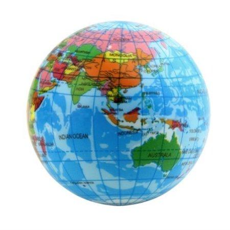 World Map Foam Earth Globe Stress Relief Bouncy Ball Atlas Geography Toy,  2 36 Inch