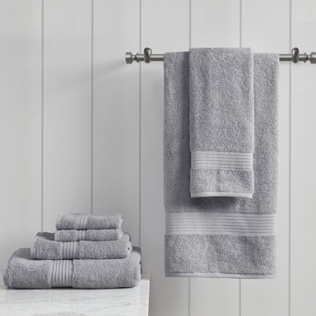 Home Essence Organic 6 Piece 100 Percent Cotton Towel Set
