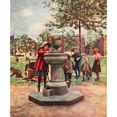 Peeps at Great Cities London 1911 Drinking fountain Canvas Art - Rose Barton (24 x 36)](Pink Peeps)