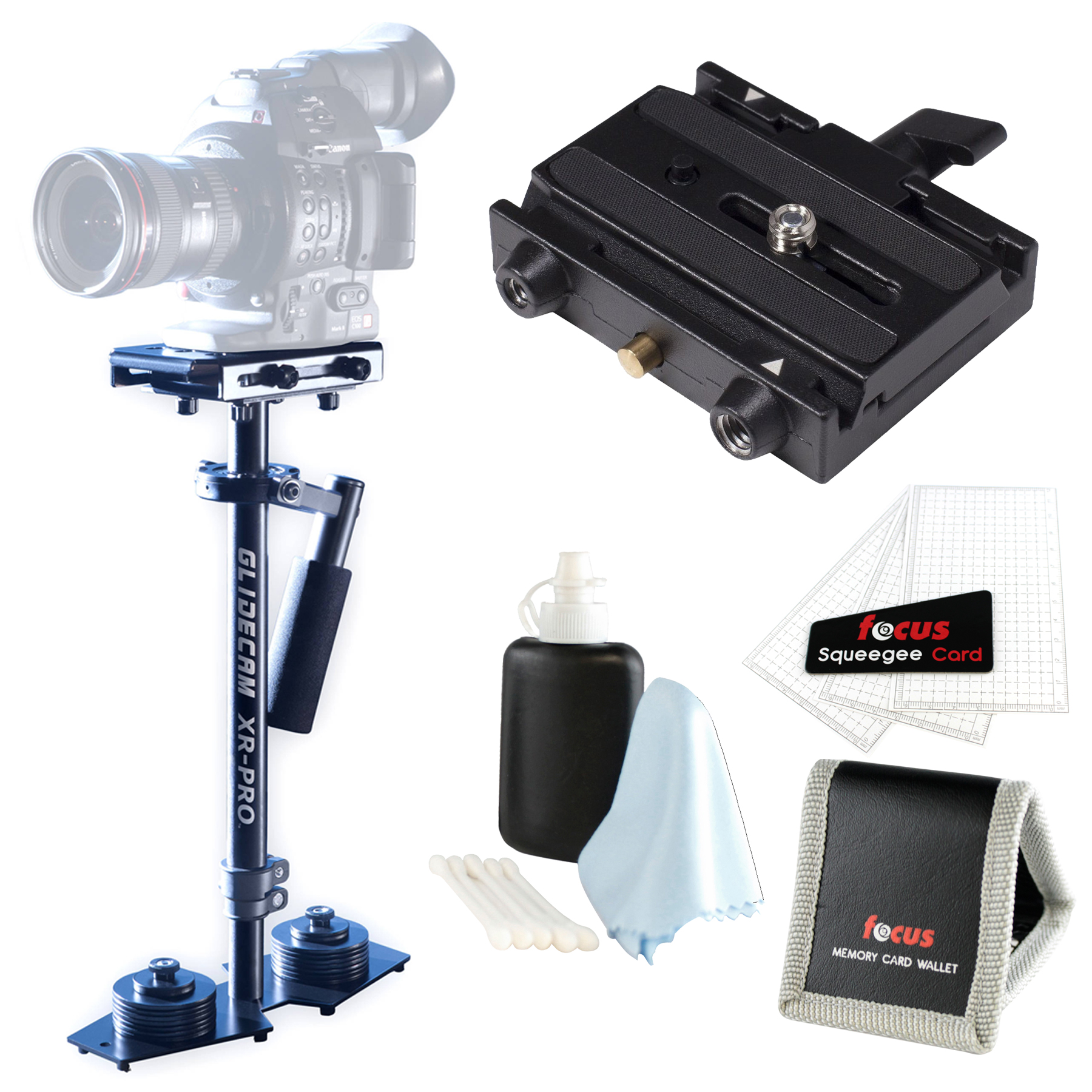 Glidecam XR-PRO Handheld Camera Stabilizer w/  Mount Plat...