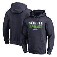 Seattle Seahawks NFL Pro Line by Fanatics Branded Iconic Collection Fade Out Pullover Hoodie - College Navy