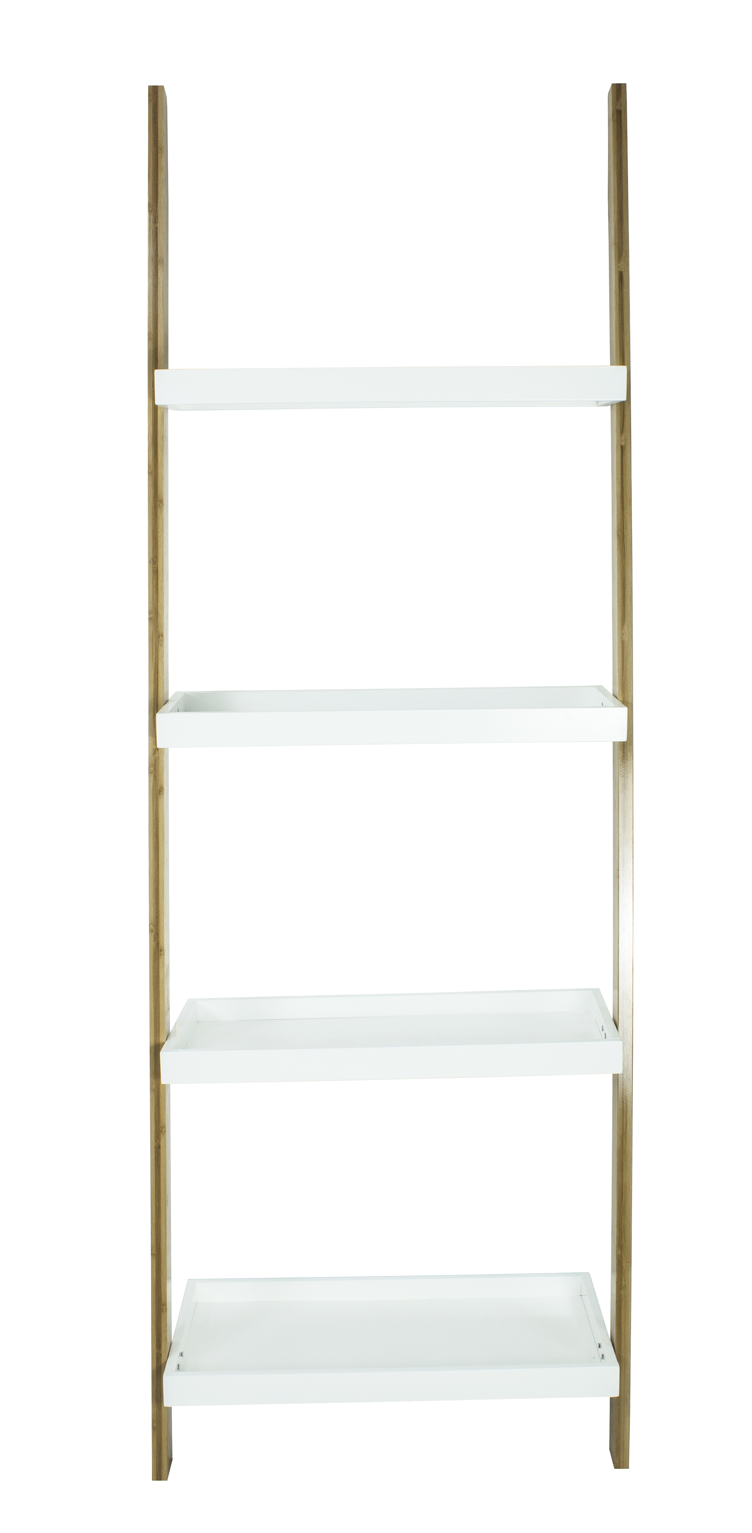 Mainstay Bamboo Collection Ladder Bookcase White Walmart Com
