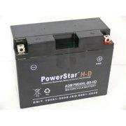 PowerStar PM-24HL-BS-HD-05 Ubvt-6 Harley-Davidson Ytx24Hl-Bs 66010-82B Yuam6250H Plt-100 Mg24H-Bs Mg24Hl-Bs 12V Battery