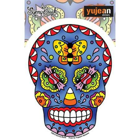 Sunny Buick, Old Skool Candy Sugar Skull Sticker - 3.75