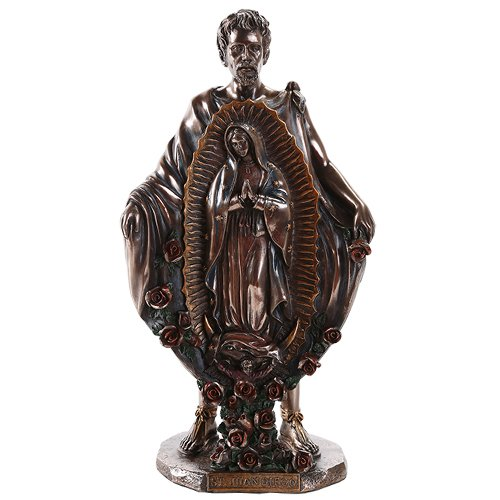Saint Juan Diego With Image of Our Lady of Guadalupe Mira...