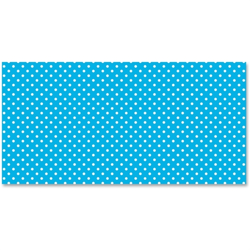 Pacon Classic Dots Design Bulletin Board Papers, Single Roll, Aqua