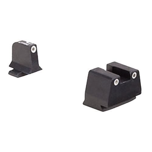 Trijicon Bright and Tough Night Sight Suppressor Set FNH Models FNS-9, FNX-9, and FNP-9, White Front Rear with Green... by Trijicon