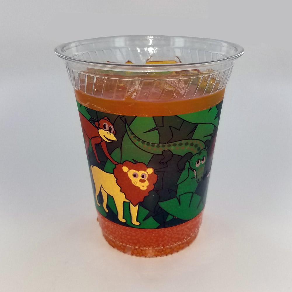 Fabri Kal Kal Clear Kids Cup w/ Safari Print, 12 oz | 1000/Case