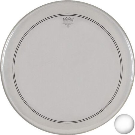 Remo P31122-C2 Coated Powerstroke 3 Bass Drum Head (22-Inch) - White Falam