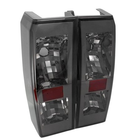 Spec-D Tuning 2002-2010 Hummer H3 Smoke Euro Tail Lights Taillights 2005 2006 2007 2008 2009 2010 (Left + Right)