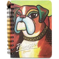 """Pavilion- 5"""" x 7"""" Paw Palettes Boxer Dog Spiral Bound Notebook with Paint Brush Pen"""