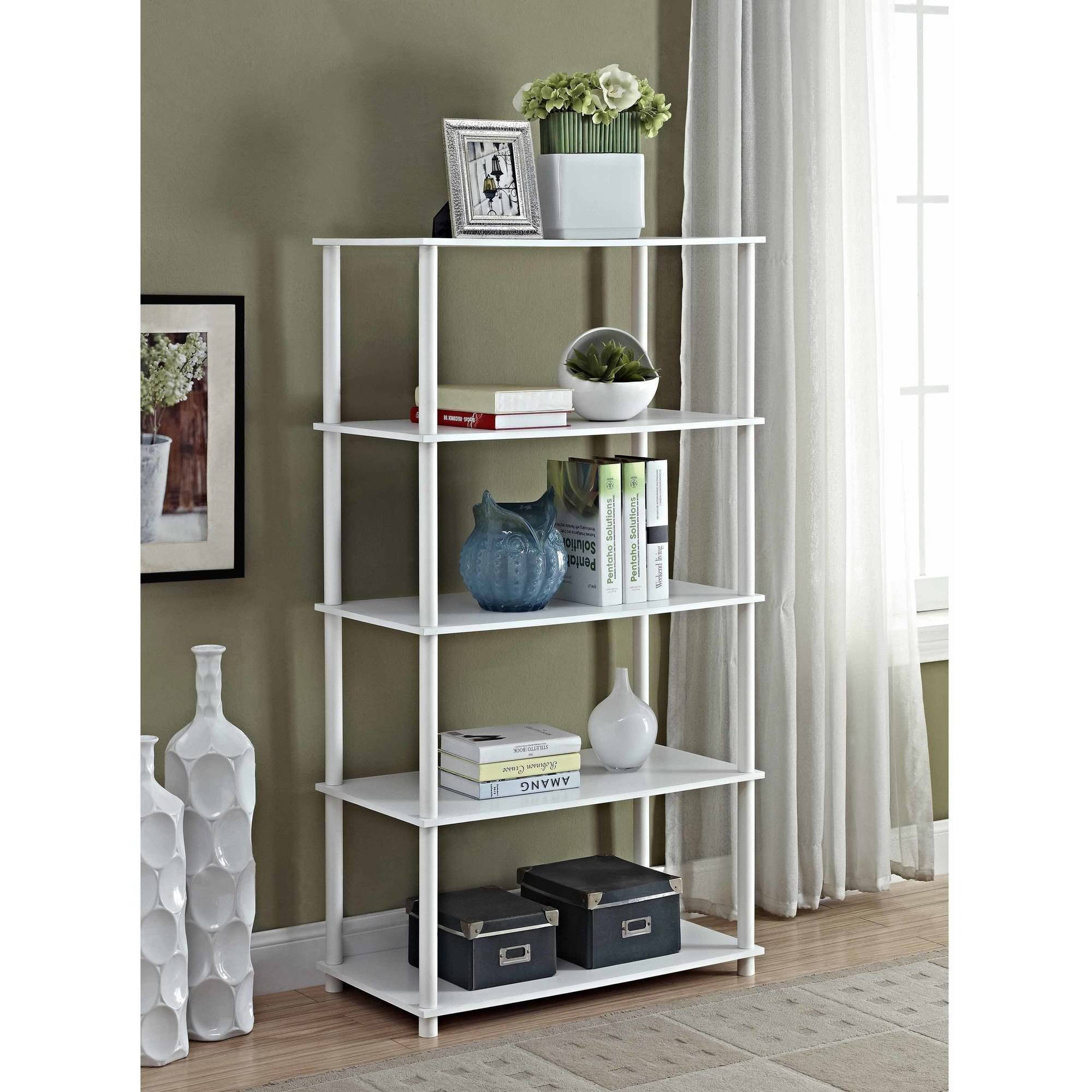 Mainstays No Tools Assembly 8 Cube Shelving Storage Unit, Multiple Colors