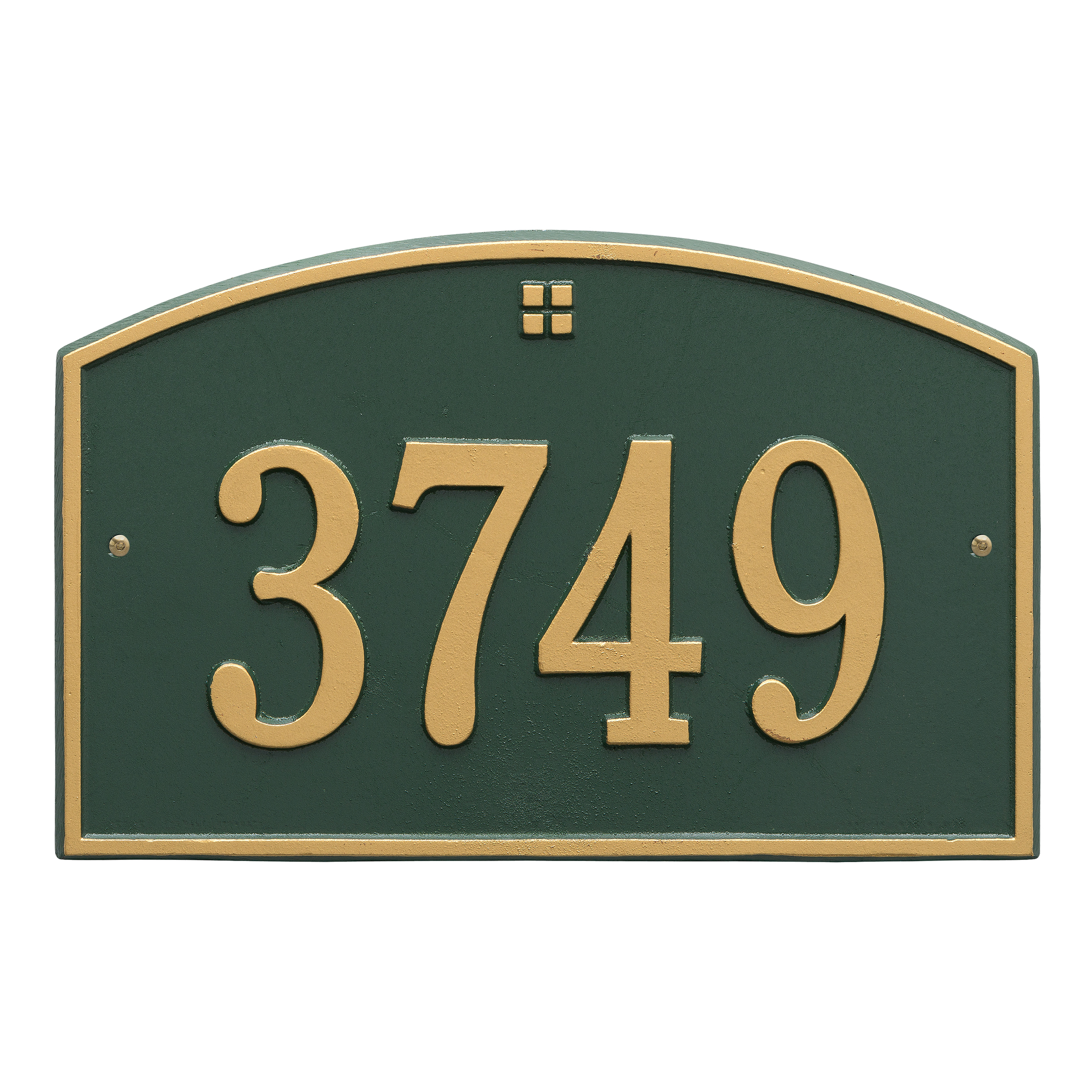 Personalized Whitehall Products Cape Charles 1- Line Address Plaque in Green Gold by Whitehall