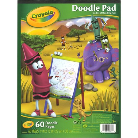 993400 Doodle Pad, 9 inche X 12 inch, Pack of 60..., By Crayola Ship from US