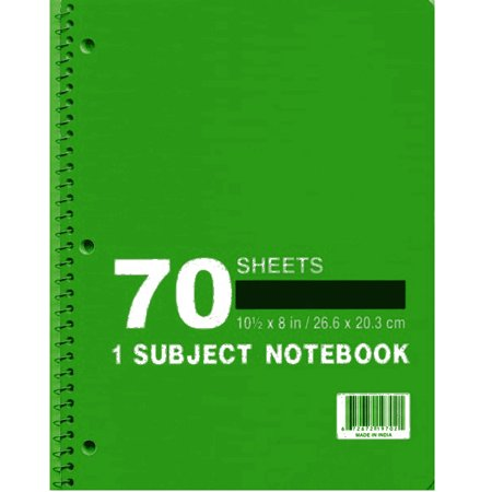 1 Subject Wide Ruled Wire Notebook - Assorted - CASE OF