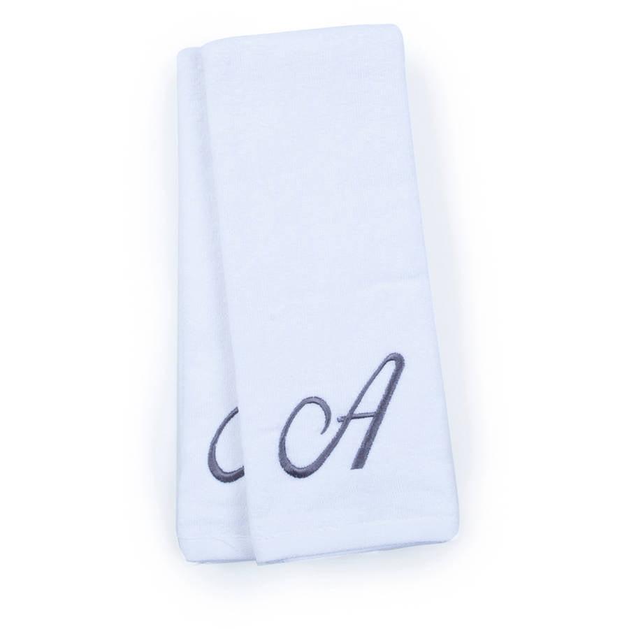 Monogram 2-Pack Hand Towel, White