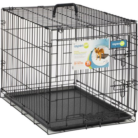 Aspen Pet Wire Home Training Dog Kennel  30 W X 19 5 D X 22 5 H