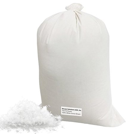 100  Bulk White Goose Down  Featherless  Fill Stuffing   9 Lb   By Dream Solutions Brand  Make Your Own Pillow  Pillow Filling Stuffing  Comforter Filling  Down Jacket Repair Stuffing And Much More