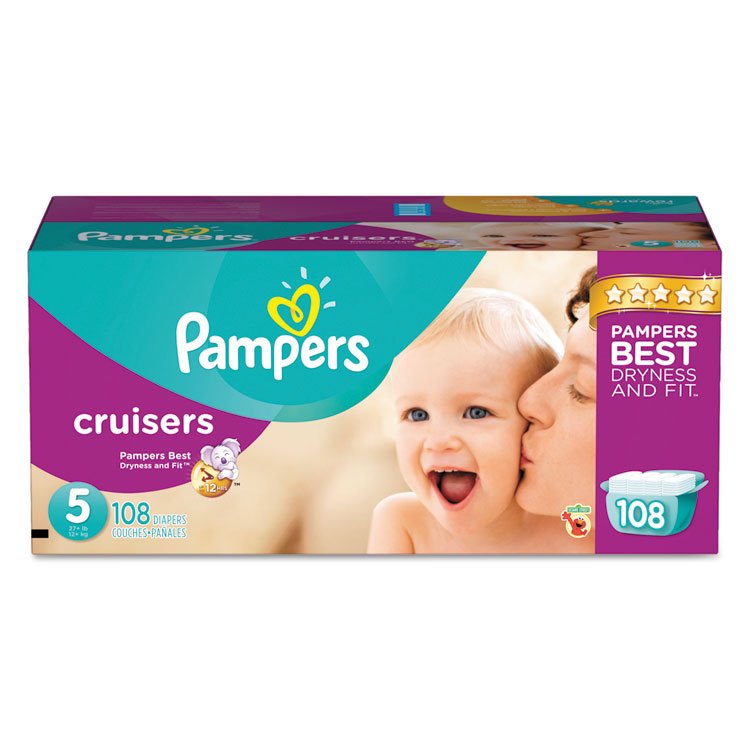 Procter & Gamble Cruisers Diapers, Size 5: 27 - 34 Lbs, 1...