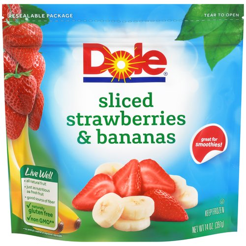 Dole Sliced Strawberries & Bananas, 14 oz