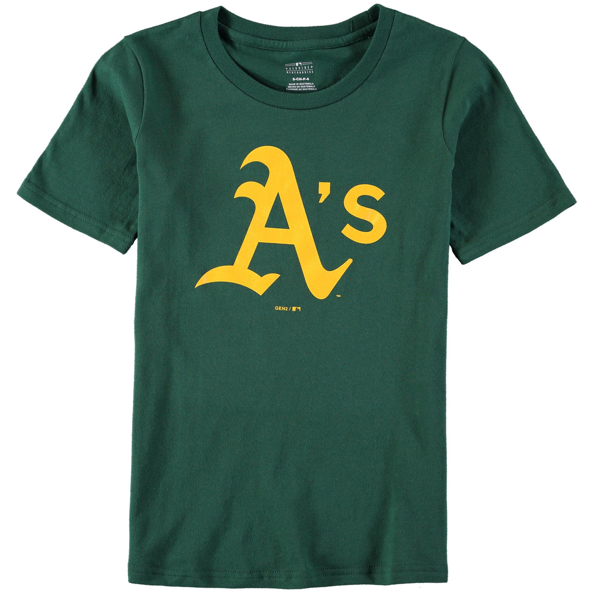 Oakland Athletics Youth Primary Logo T-Shirt - Green