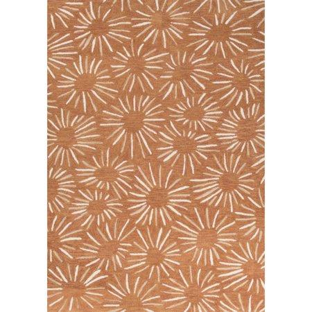 Jaipur Rugs Contemporary Floral Leaves Pattern Orange