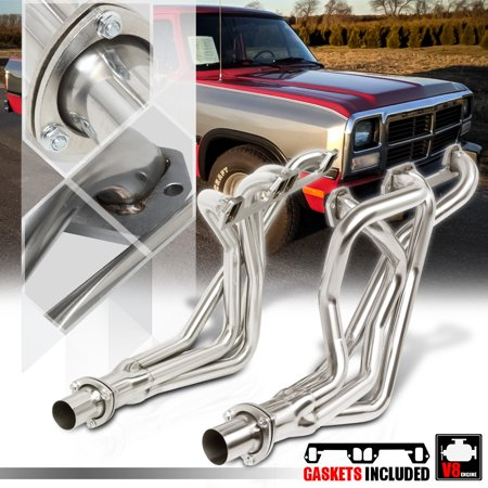 Manifold Tube (SS Long Tube Exhaust Header Manifold for 72-91 Dodge D/W Series Pickup 5.2/5.9 73 74 75 76 77 78 79 80 81 82 83 84 85 86 87 88 89 90)