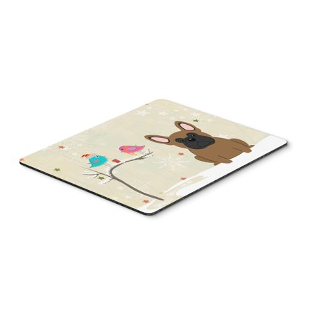 Christmas Presents between Friends French Bulldog Brown Mouse Pad, Hot Pad or Trivet BB2485MP ()