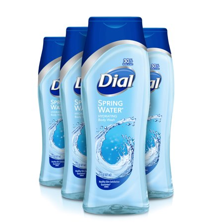 Dial Body Wash, Spring Water, 21 Ounce (Pack of 4) Dial Spring Body Wash