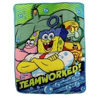 "Nickelodeon Spongebob Squarepants ""Teamworked"" Super Plush Throw Blanket"