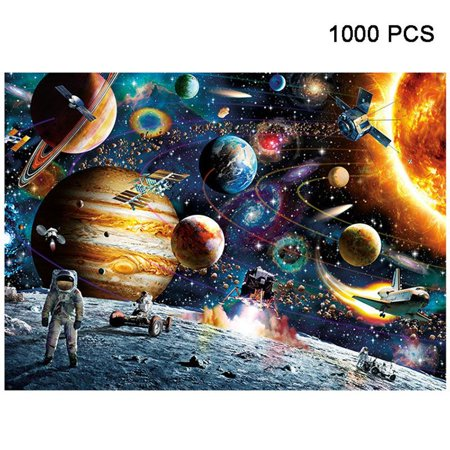 1000 Pieces Jigsaw Puzzles Educational Toys Scenery Space Stars Educational Puzzle Toy for Kids/Adults Christmas Halloween Gift Color:Space - Jane Wooster Scott Halloween Puzzle