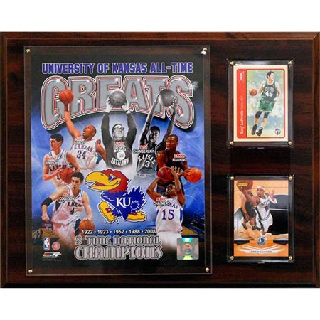 C&I Collectables NCAAB 12x15 Kansas Jayhawks All-Time Great Photo Plaque