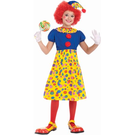 Child Girls Halloween Birthday Economy Clown Costume - Halloween Costumes Dead Clowns