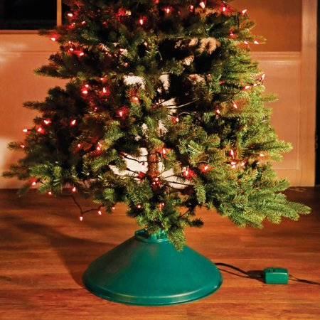 Pre Lit Rotating Christmas Tree.Christmas Tree Stand Ez Rotate Christmas Decoration
